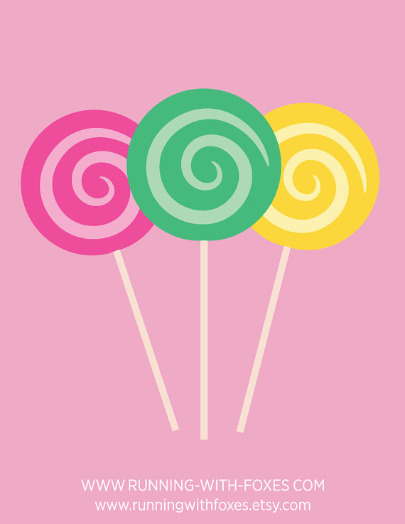 Candy sucker clipart image library download Swirl Lollipops Clip Art | Cute Candy Shop Food Dessert Graphic ... image library download