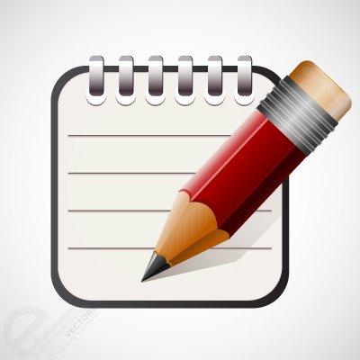 Caneta clipart svg library download Clipart e gráficos vetoriais de Ícone de caneta e bloco de notas ... svg library download
