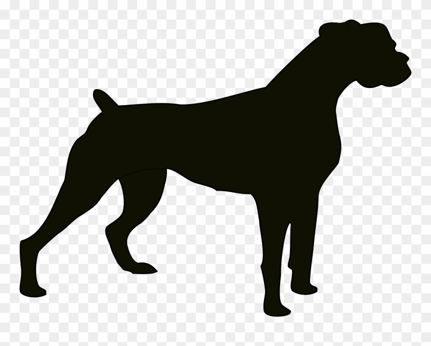 Canine clipart clipart library stock Dog Black Animal Bulldog Domestic Pet Canine - Boxer Dog Silhouette ... clipart library stock