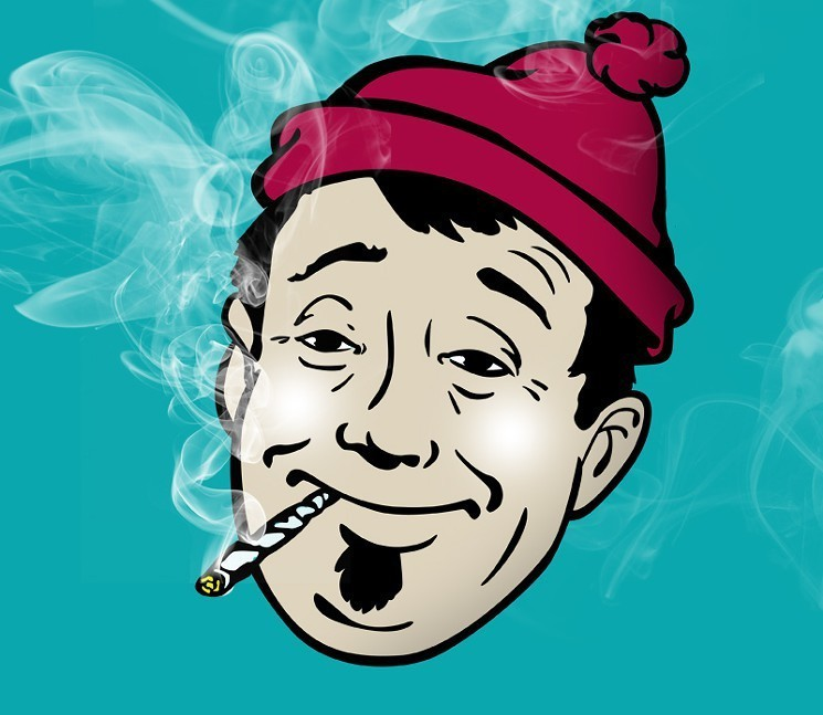 Cannabis headband clipart png black and white library Ask a Stoner: How Long Have People Been Smoking Pot? - LA Weekly png black and white library
