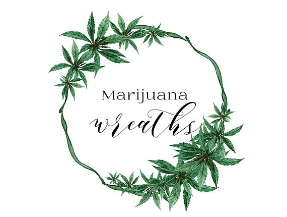 Cannabis headband clipart banner royalty free library Pin by C T on Cannabis Lifestyle | Wreath watercolor, Watercolor ... banner royalty free library