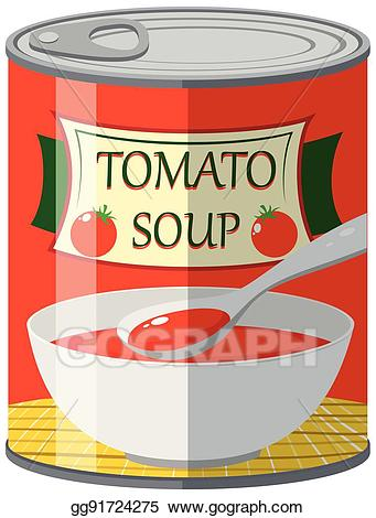 Canned soups clipart image royalty free stock EPS Vector - Canned food for tomato soup. Stock Clipart Illustration ... image royalty free stock