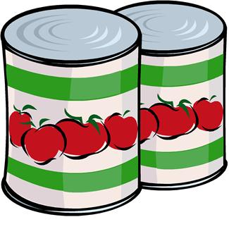 Cans clipart jpg black and white library Canned soup clip art image #25672 jpg black and white library