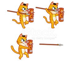 Cannibal clipart clipart royalty free stock Cannibal Cat Throwing Spears Sprite stock vectors - Clipart.me clipart royalty free stock