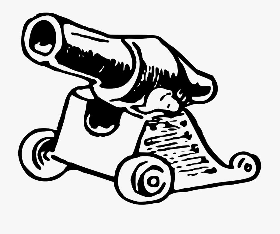 Cannon clipart black and white graphic Cannon - Cannon Ball Clipart Black And White, Cliparts & Cartoons ... graphic