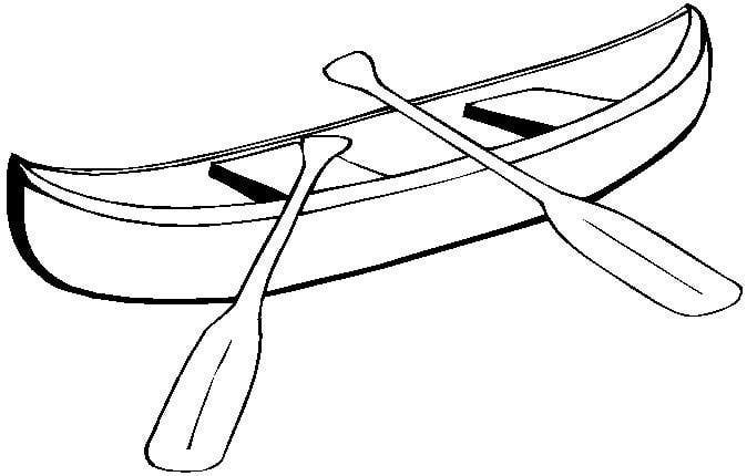Canoeing clipart black and white picture library download Canoe clipart black and white 3 » Clipart Station picture library download