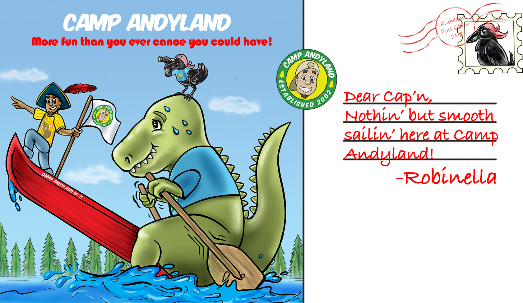 Canoe camp song clipart clip art freeuse download Camp Andyland -by Andy Z! 16 sing-along favorites! clip art freeuse download
