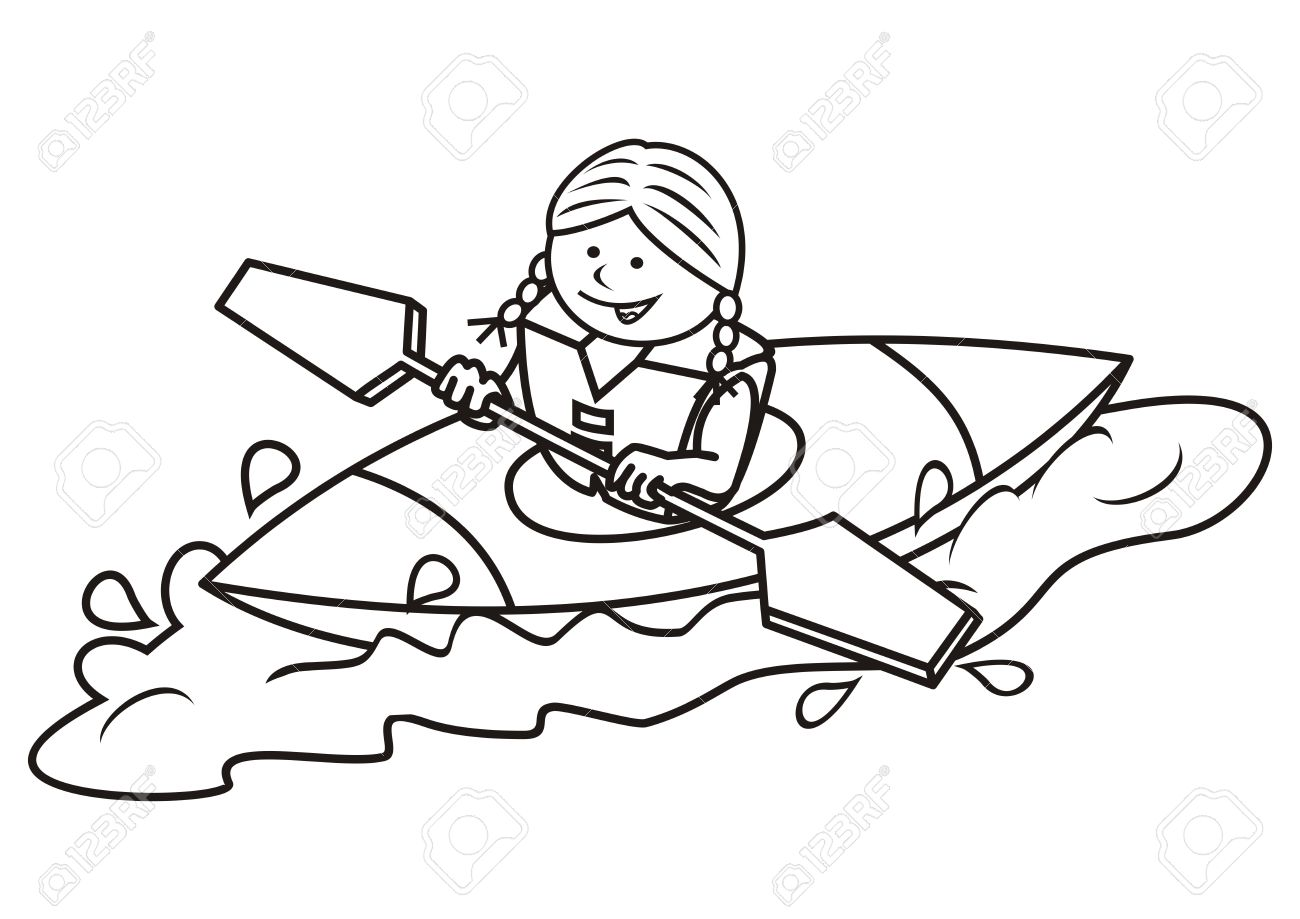 Canoeing clipart black and white svg black and white download Canoe clipart black and white 2 » Clipart Station svg black and white download