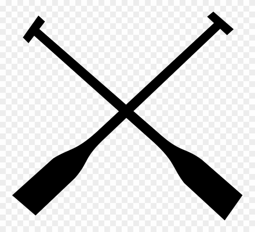 Canoe with paddles clipart vector black and white download Canoe Paddle Clipart Black And White - Rowing Png Transparent Png ... vector black and white download