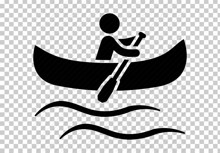 Canoeing clipart black and white jpg library stock Canoeing Paddling Kayak Computer Icons PNG, Clipart, Black And White ... jpg library stock