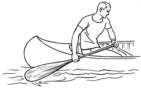 Canoeing clipart black and white clipart library stock Free Canoe Black And White, Download Free Clip Art, Free Clip Art on ... clipart library stock
