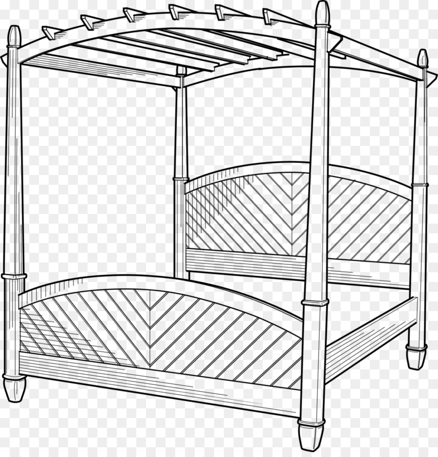 Canopy bed clipart png freeuse Black And White Frame png download - 991*1024 - Free Transparent ... png freeuse