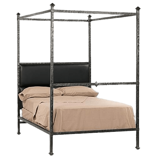 Canopy bed clipart image black and white library Metal Frame Canopy Bed transparent PNG - StickPNG image black and white library
