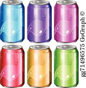 Cans clipart graphic freeuse Soda Cans Clip Art - Royalty Free - GoGraph graphic freeuse