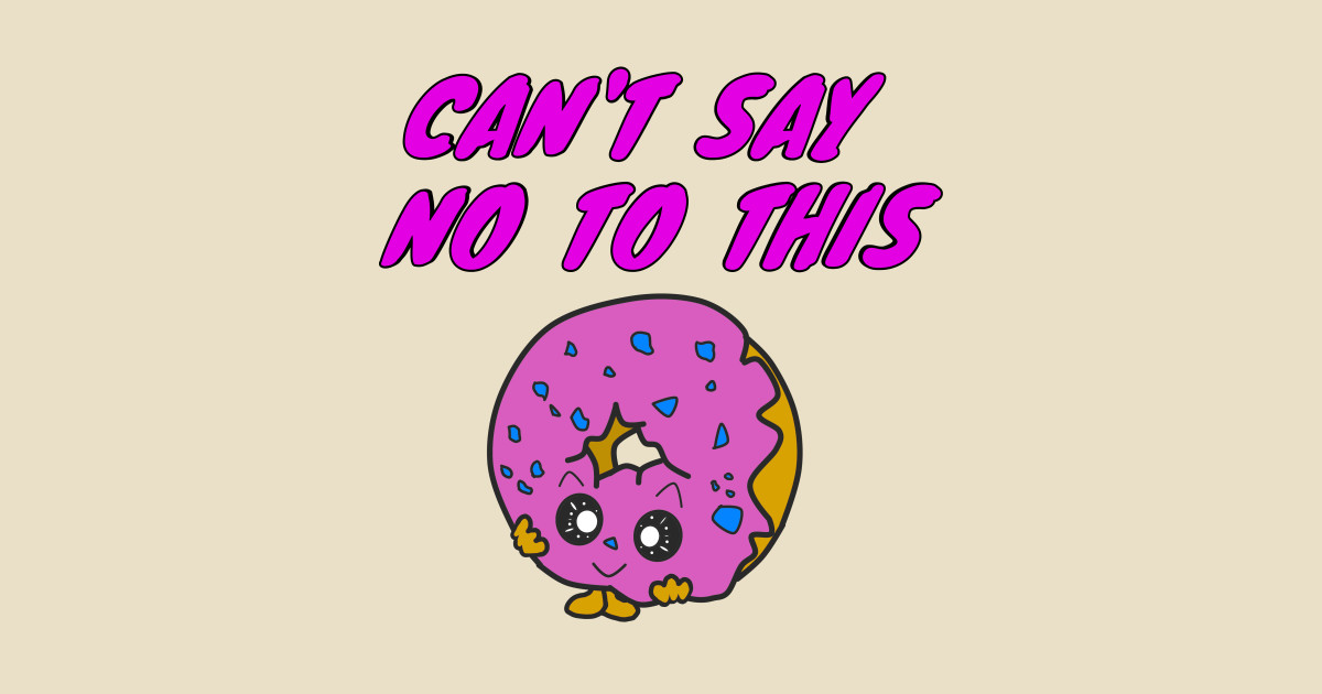 Cant say no clipart vector free download can\'t say no to this donut kawaii by fromberlingift vector free download