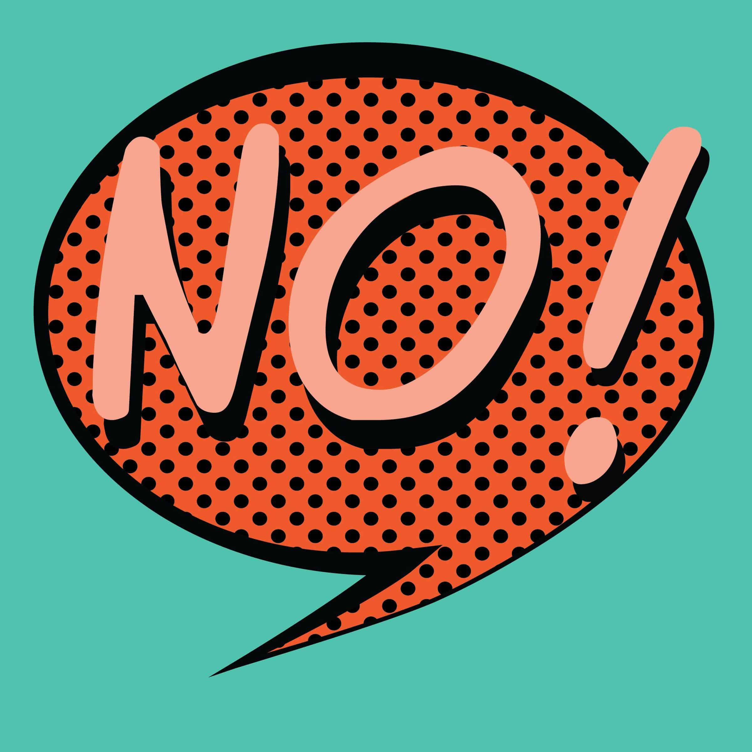 Cant say no clipart png black and white stock Why You Need To Say No - Joseph Lalonde png black and white stock