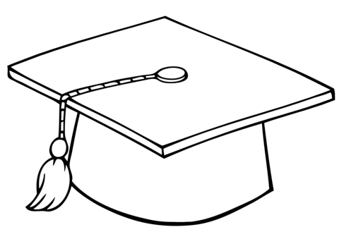 Cap coloring pages clipart banner royalty free download Graduate Cap coloring page | Free Printable Coloring Pages banner royalty free download