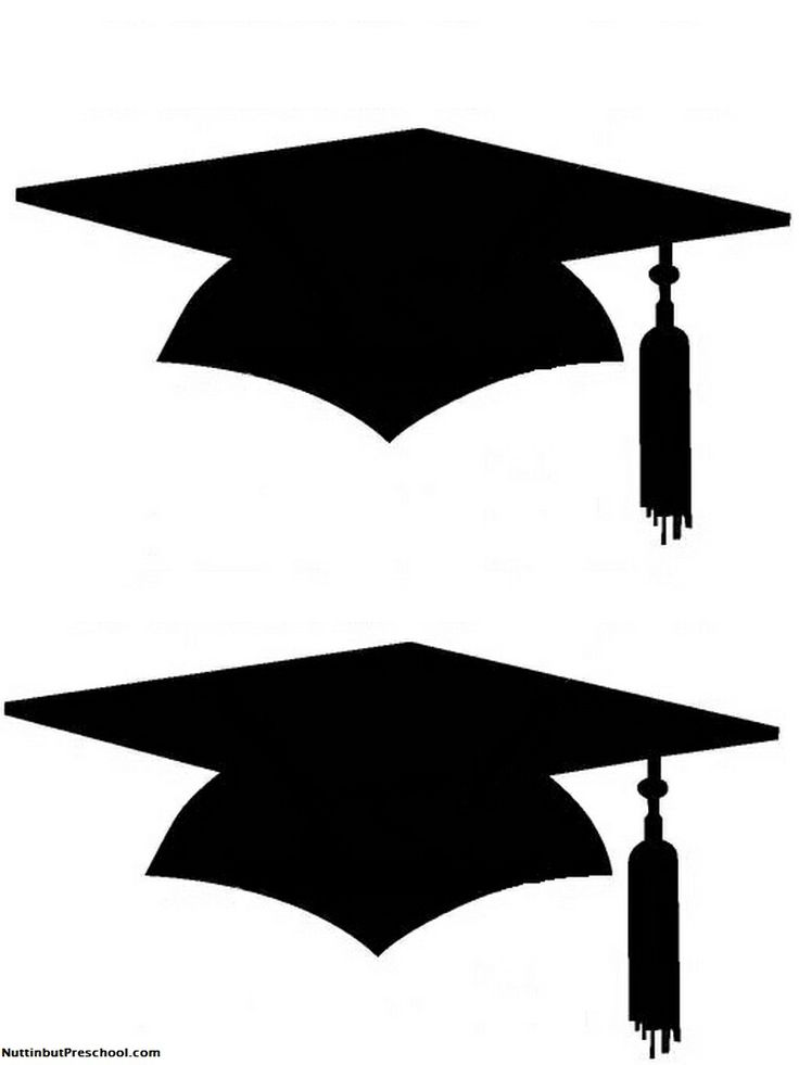 Cap & gown red and white clipart