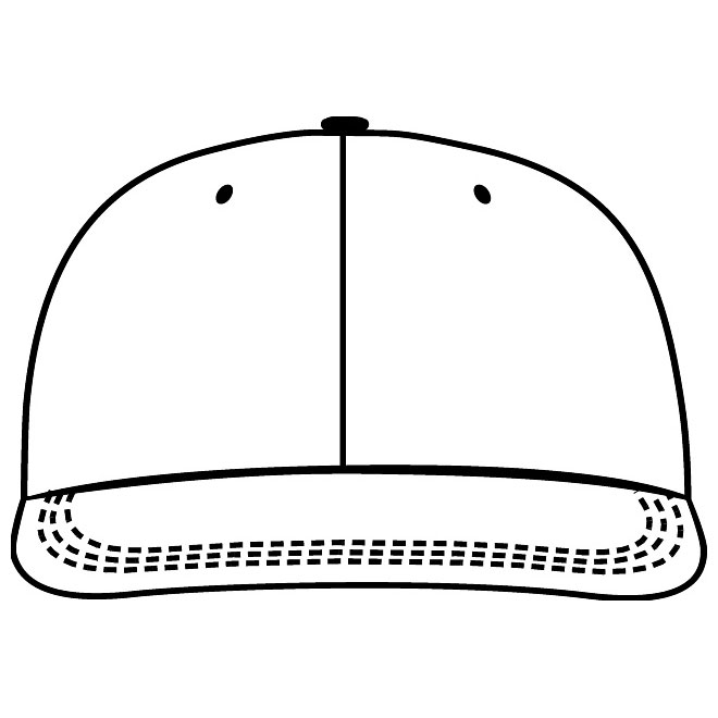 Cap vector clipart stock VECTOR CAP TEMPLATE FRONT VIEW - Free vector image in AI and EPS format. stock