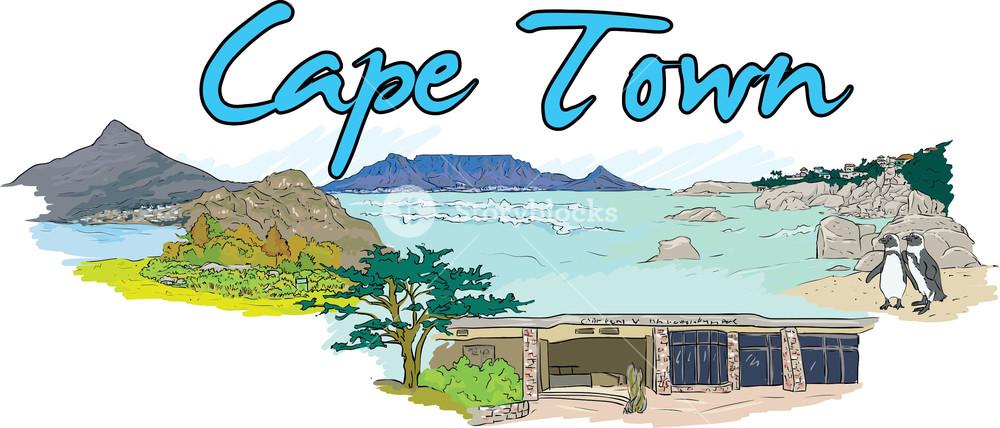 Cape town clipart png transparent Cape Town Vector Doodle Royalty-Free Stock Image - Storyblocks Images png transparent