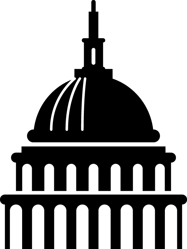 Capitol building clipart png banner black and white download Capitol Building icon on Behance banner black and white download