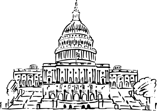 Capitol dome clipart white vector black and white stock Us Capitol Building clip art Free vector in Open office drawing svg ... vector black and white stock