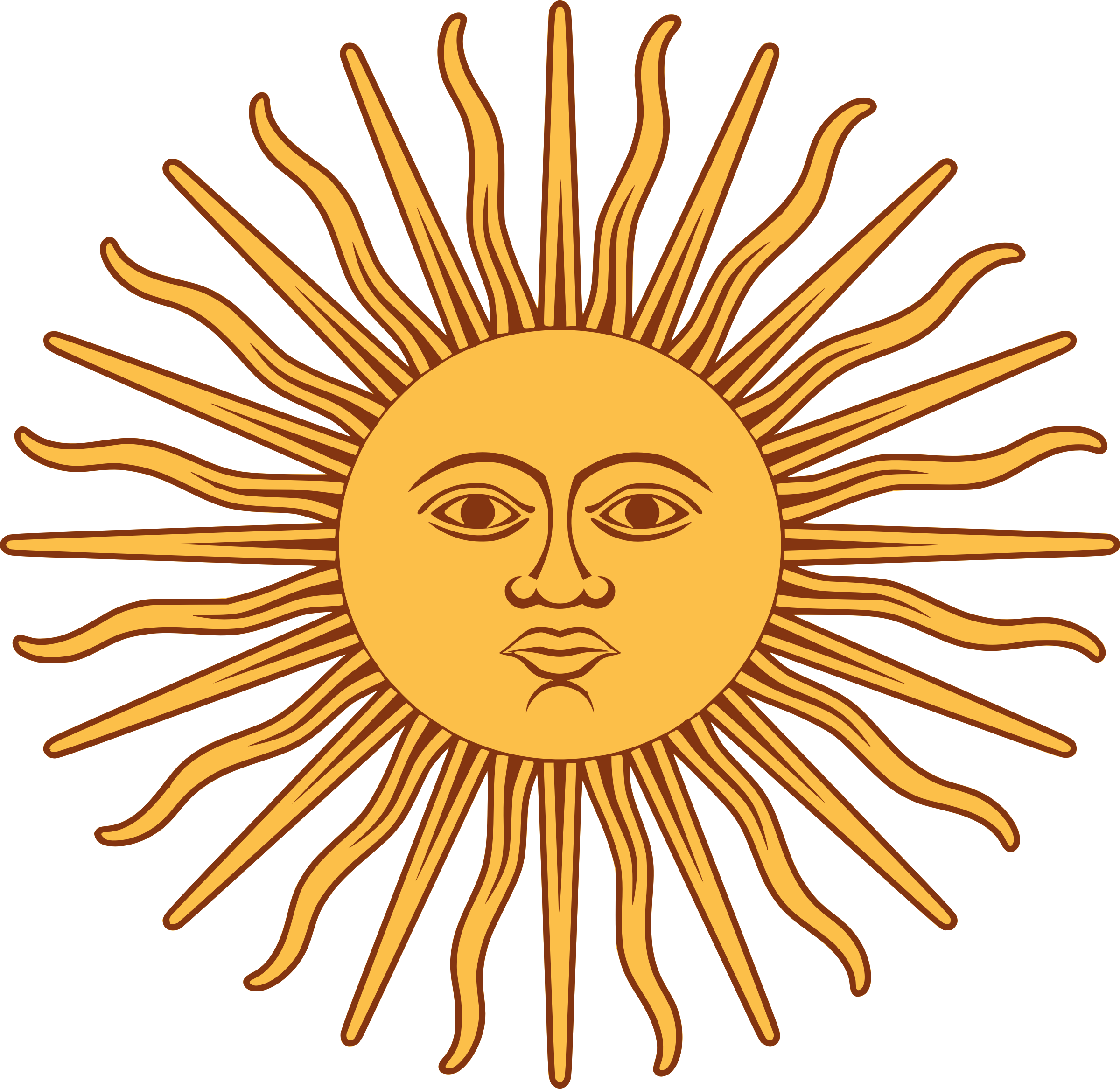Trippy sun clipart clip art royalty free stock Sol de Mayo-Bandera de Argentina by @liftarn, The sun from the flag ... clip art royalty free stock