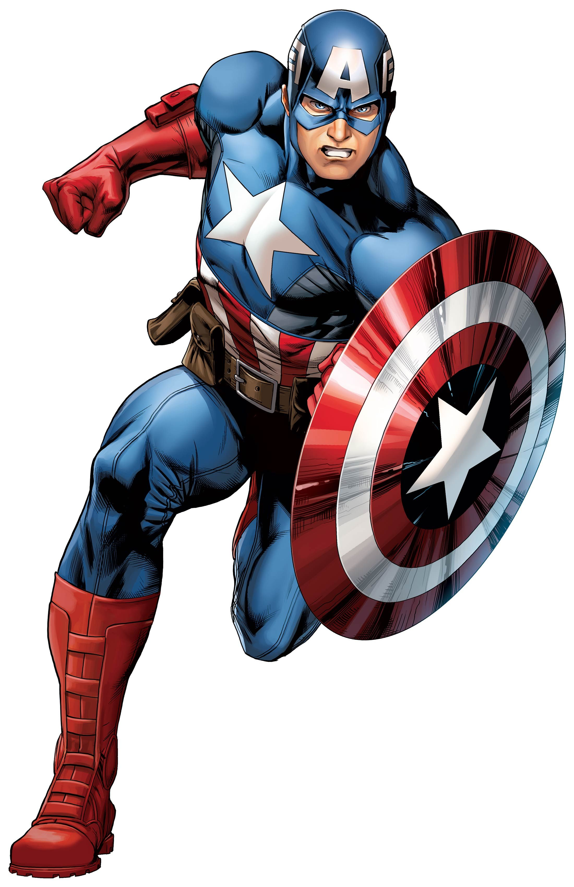 Captain america cartoon clipart graphic black and white Captain #America #Clip #Art. (THE * 5 * STÅR * ÅWARD * OF: * AW YEAH ... graphic black and white