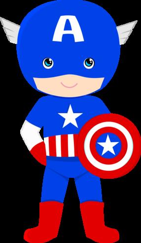 Captain america cartoon clipart clipart library SUPER HERÓIS | Captain America Printables | Superhero birthday party ... clipart library