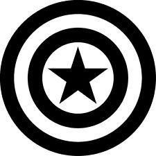 Captian americas sheild clipart banner transparent stock Free download Captain America Shield Black And White Clipart for ... banner transparent stock