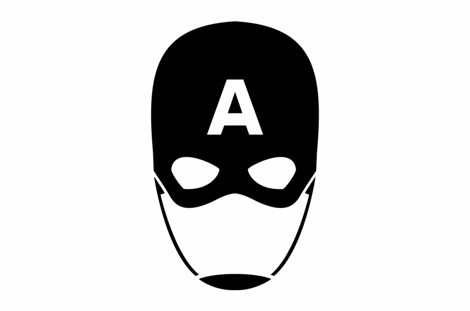 Captain america face clipart black and white svg library library Captain America Mask Png - Captain America Mask Black And White Free ... svg library library