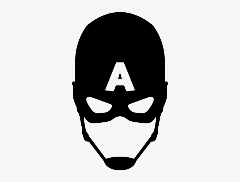 Captain america face clipart black and white clip freeuse download Captain America Mask Black And White PNG Image | Transparent PNG ... clip freeuse download