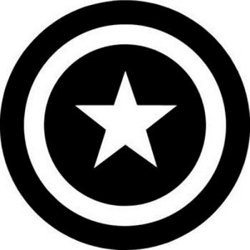Captain america face clipart black and white picture royalty free download captain america logo black and white - Google Search | CRICUT ... picture royalty free download
