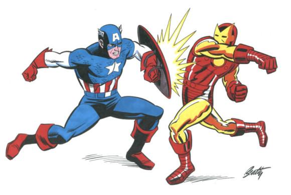 Captain america iron man clipart