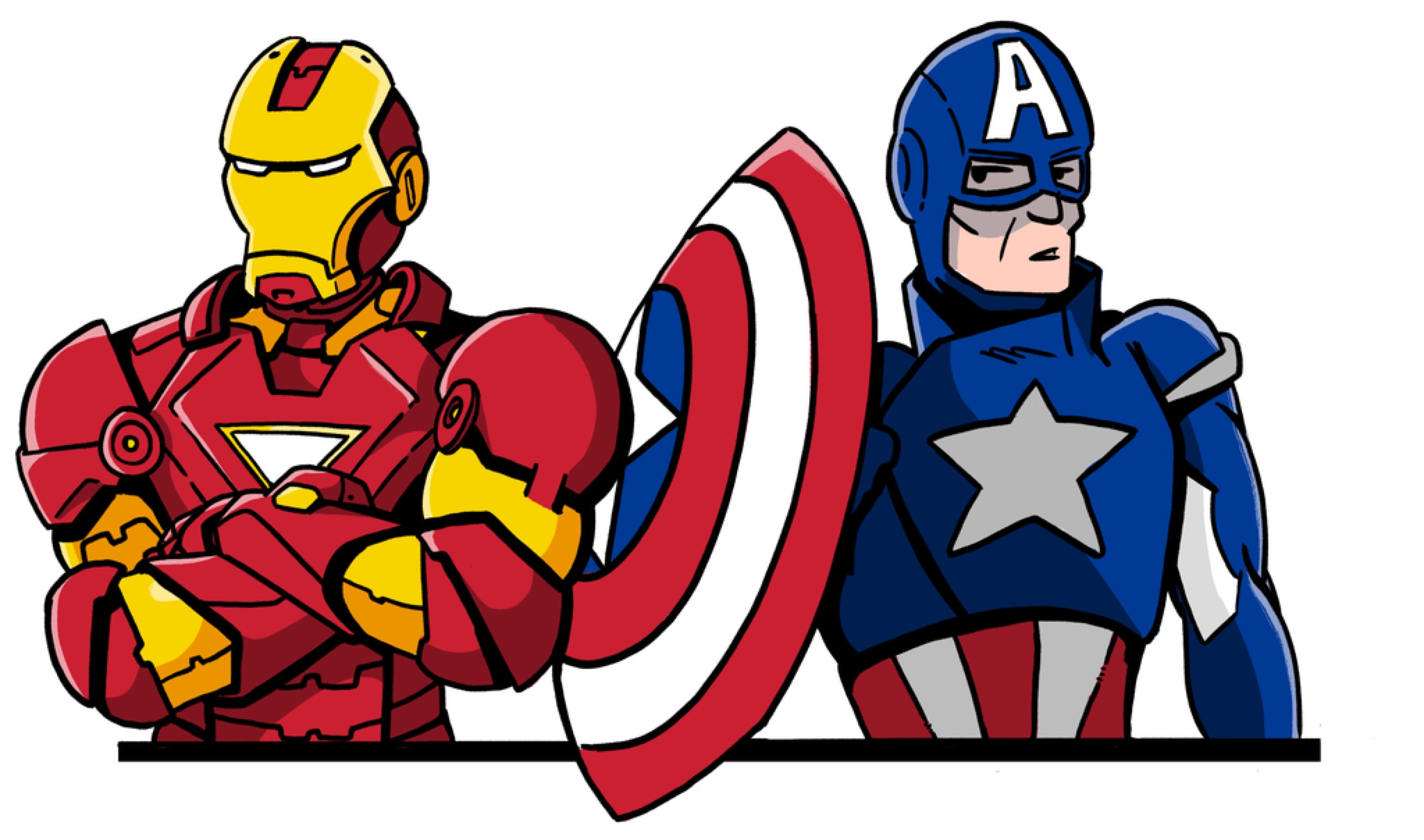Captain america iron man clipart image royalty free library Collection of Captain america clipart | Free download best Captain ... image royalty free library