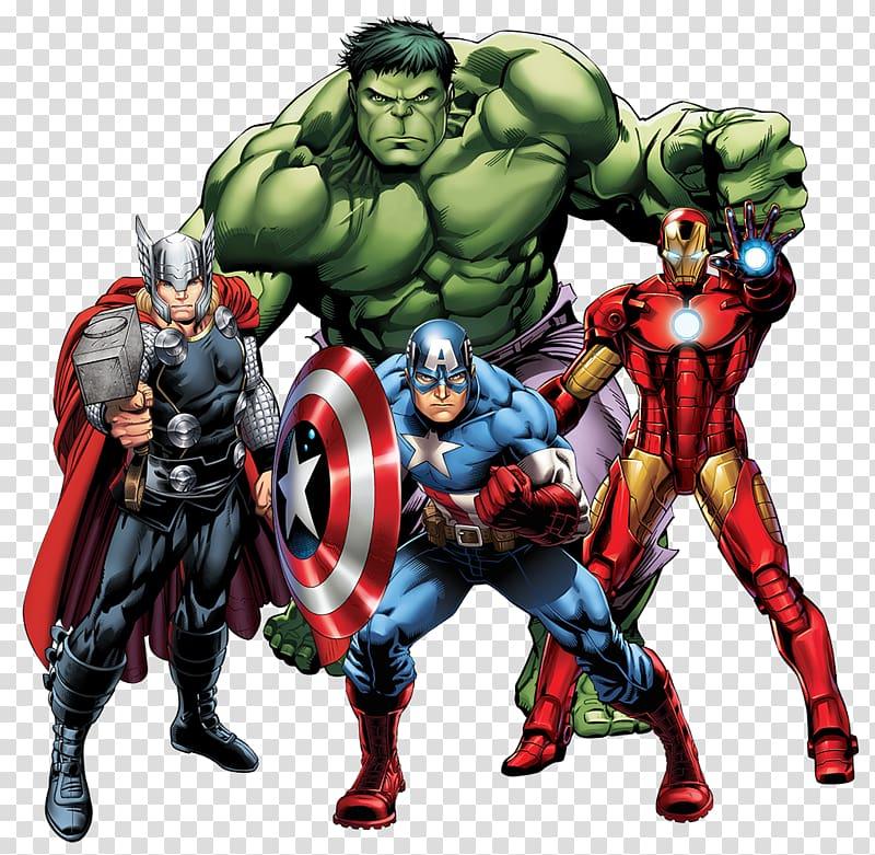 Captain america iron man clipart jpg black and white Thor, Captain America, Iron-Man, and Hulk, Thor Iron Man Marvel ... jpg black and white