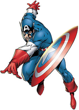 Captain marvel clipart image black and white stock Captain America Clipart - Clipart Kid image black and white stock