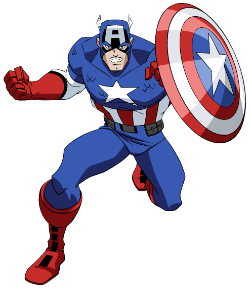 Captain marvel clipart picture library library Captain America Clipart - Clipart Kid picture library library