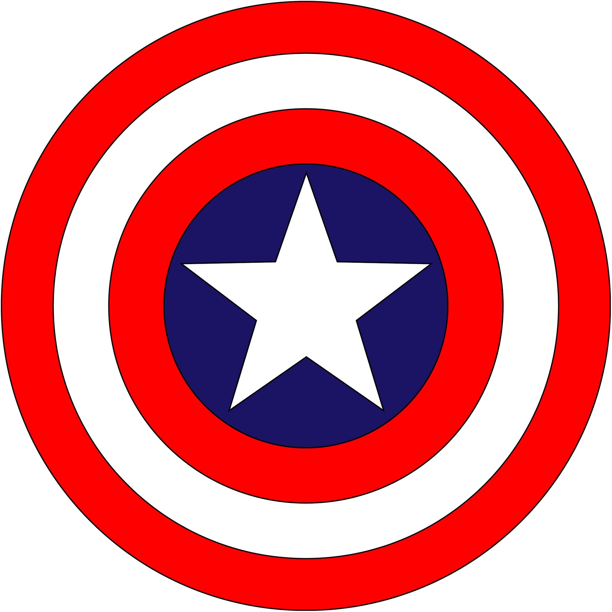 Captain marvel logo clipart picture black and white Captain america logo clip art - ClipartFest picture black and white