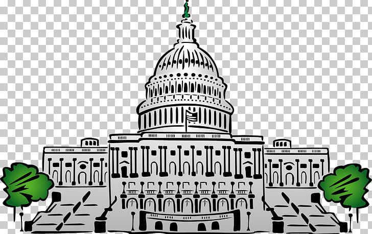 Captial building clipart black and white clipart royalty free library White House United States Capitol Dome Building PNG, Clipart, Brand ... clipart royalty free library