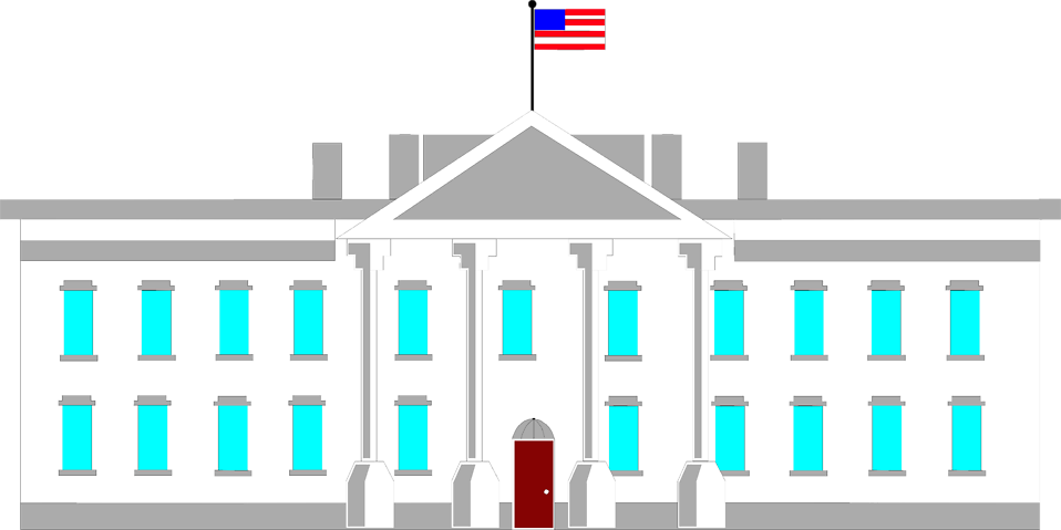 White house clipart free picture black and white stock White House | Free Stock Photo | Illustration of the White House in ... picture black and white stock