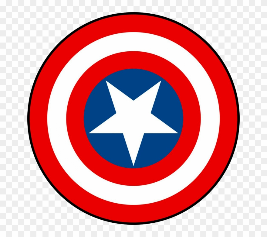Captian americas sheild clipart graphic black and white library Simbolo Capitao America Png - Captain America Shield Png Print ... graphic black and white library