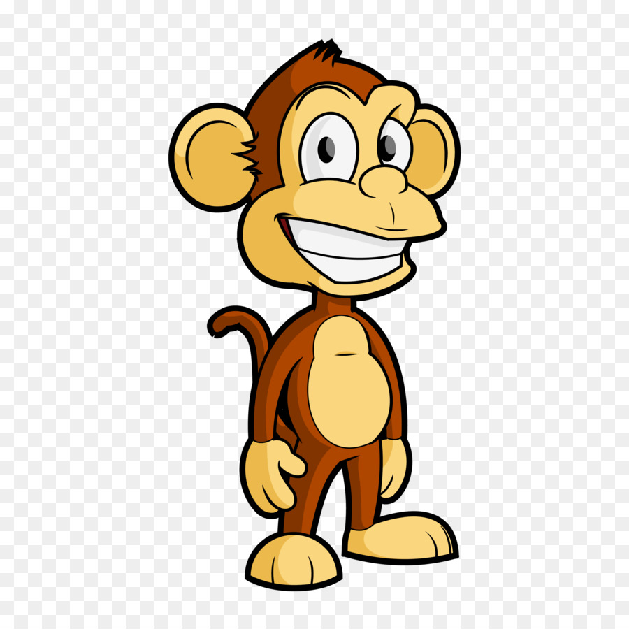 Capuchin clipart jpg free download Monkey Cartoon png download - 3000*3000 - Free Transparent Tufted ... jpg free download