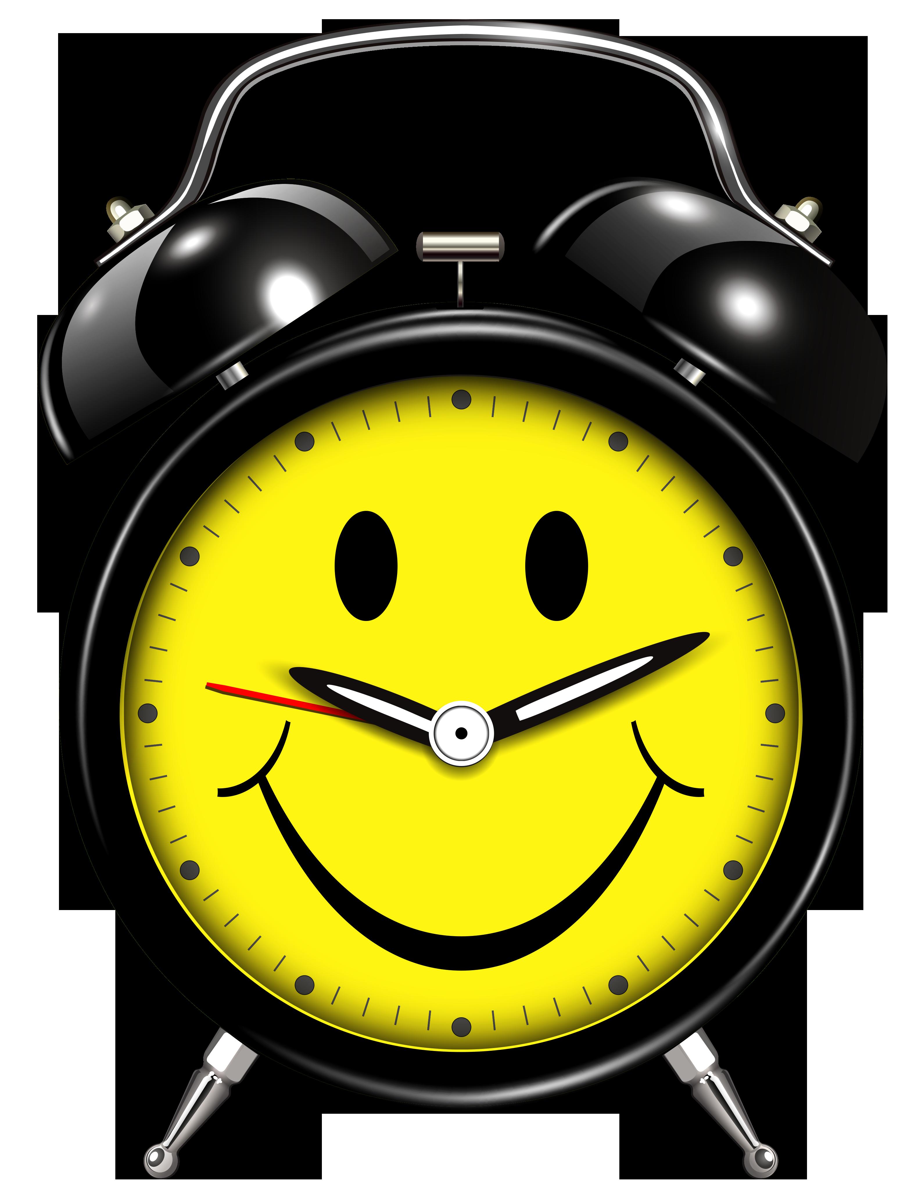 Clipart money smiles svg transparent library Smiling Alarm Clock PNG Clip Art - Best WEB Clipart svg transparent library