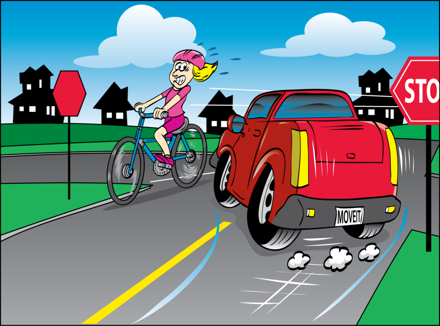 Car and bike clipart svg library City Illustration clipart - Car, Bicycle, Cycling, transparent clip art svg library