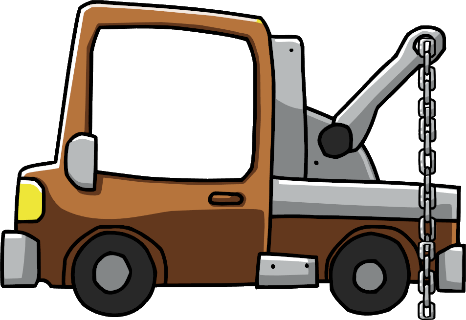 Car towing clipart vector black and white library Tow Truck | Scribblenauts Wiki | FANDOM powered by Wikia vector black and white library