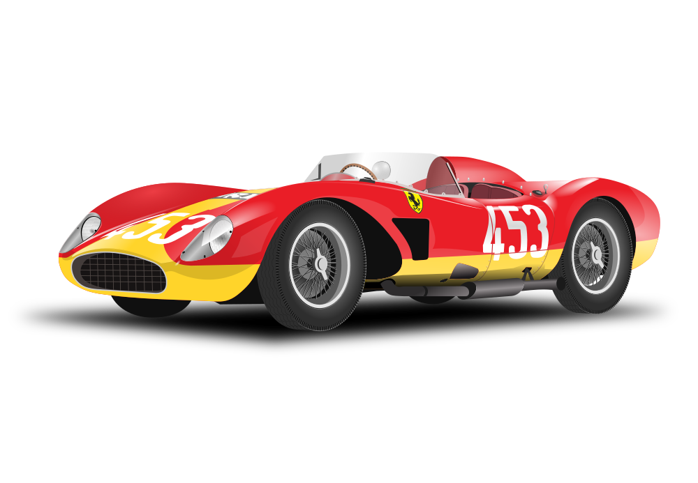 Red race car clipart svg royalty free OnlineLabels Clip Art - Red Car (No Background) svg royalty free