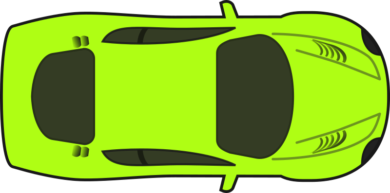 Clipart car no background svg freeuse Clipart - Bright Green Racing Car (Top View) svg freeuse