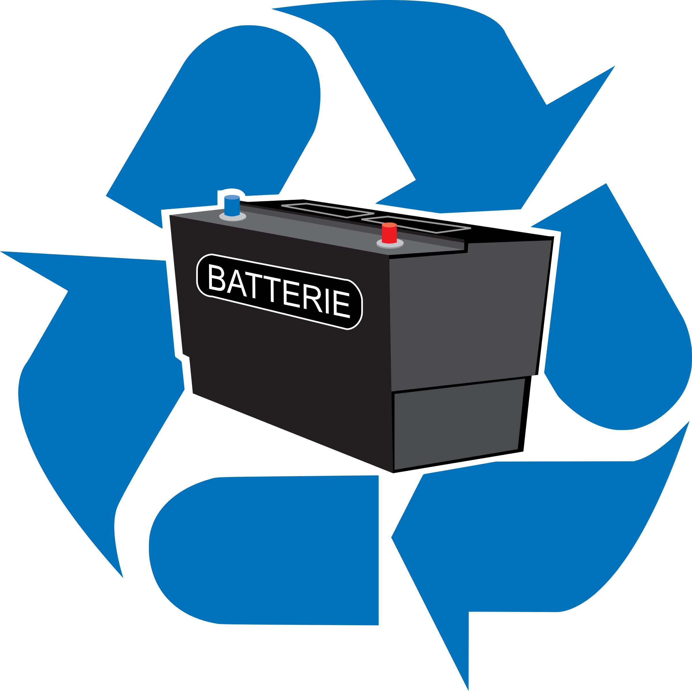 Car battery clipart png transparent library Clipart - recyclage batterie png transparent library