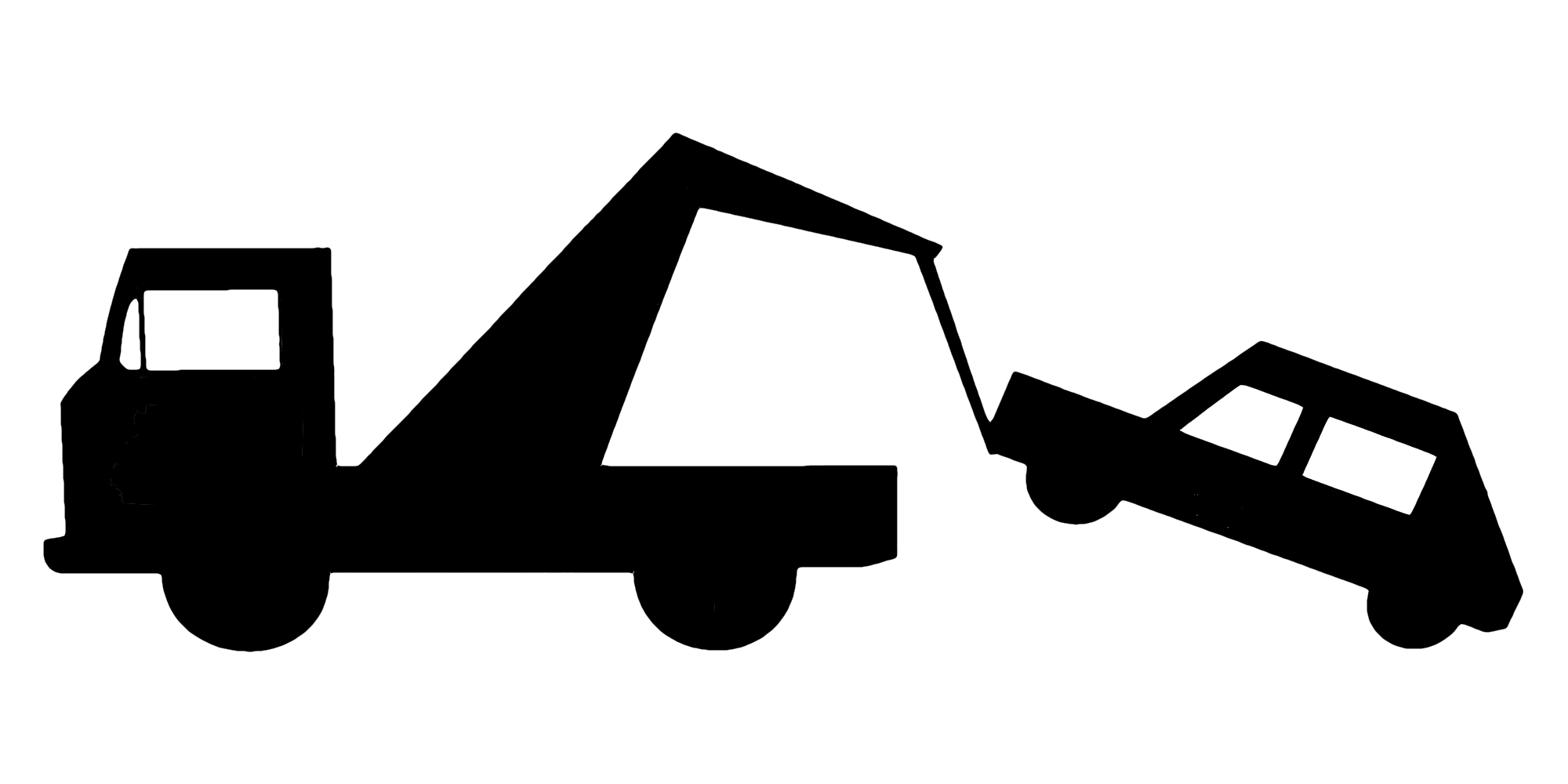 Towing car clipart picture black and white 28+ Collection of Towing Vehicle Clipart | High quality, free ... picture black and white
